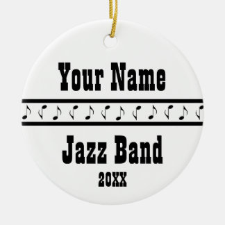 Jazz Band Personalized Music Ornament Keepsake