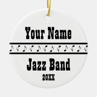 Jazz Band Personalized Music Ornament Keepsake
