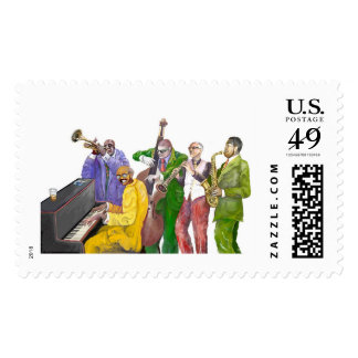 """Jazz band"" Postage Stamp"