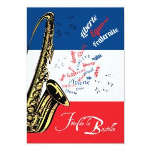 Jazz invitations zazzle jazz bastille day july 14 invitation stopboris Choice Image