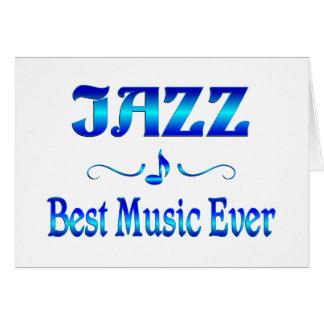 Jazz Best Music Card
