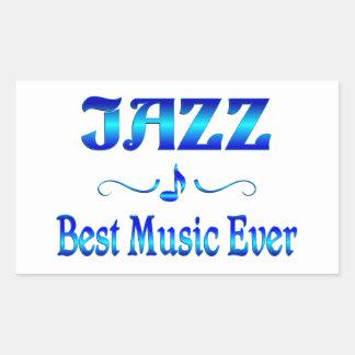 Jazz Best Music Rectangular Sticker