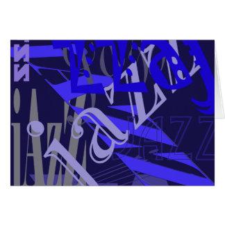 Jazz Blue on Blue Card