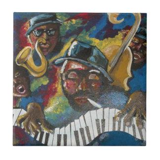 Jazz Blues African American Folk Art Tile