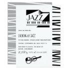 Jazz Blues Theme Party invitation