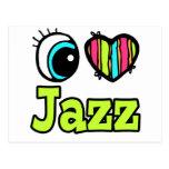 Jazz brillante del amor del corazón I del ojo Tarjeta Postal