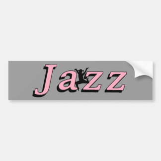 Jazz Car Bumper Sticker