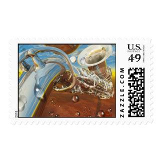 Jazz by Lenny art Stamp