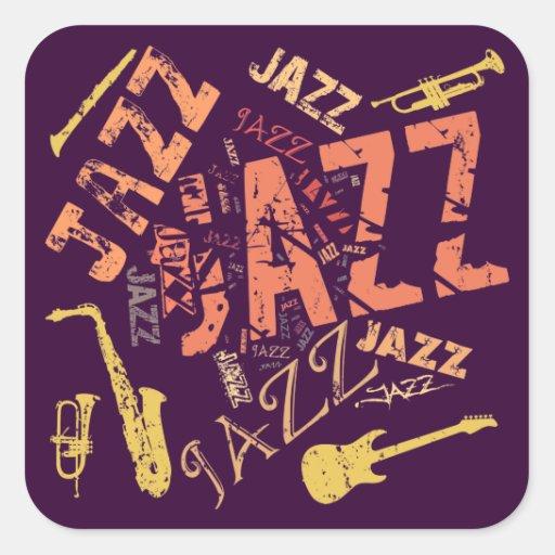 Jazz Calcomania Cuadradas Personalizada