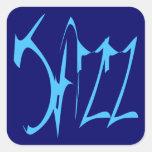 Jazz Calcomania Cuadradas Personalizadas