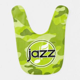 Jazz; camo verde claro, camuflaje baberos de bebé