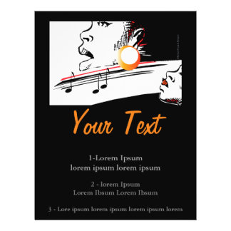 """Jazz, cantante de los azules folleto 8.5"""" x 11"""""""
