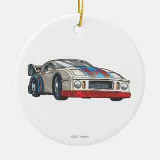 Jazz Car Mode Double-Sided Ceramic Round Christmas Ornament