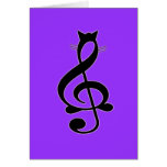 Jazz Cat Card