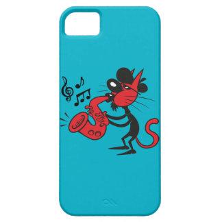 Jazz Cat iPhone 5 Fundas