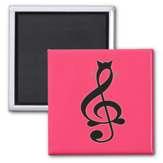 Jazz Cat Magnet