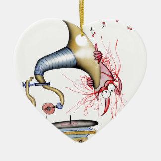 jazz cat music, tony fernandes ceramic ornament