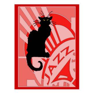 Jazz Cat Postcard