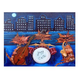 Jazz Cats Post Card