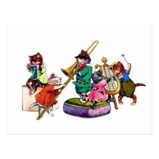 Jazz Cats Postcard
