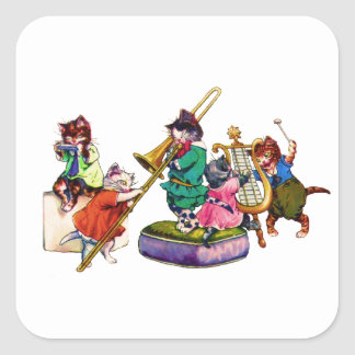 Jazz Cats Square Sticker