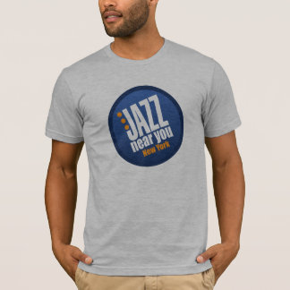 Jazz cerca de usted básico unisex de Nueva York Playera