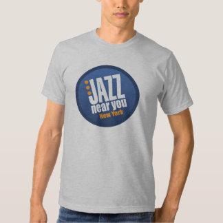 Jazz cerca de usted básico unisex de Nueva York Playeras