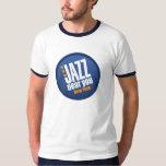 Jazz cerca de usted camiseta del campanero del