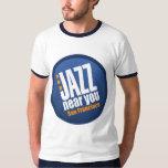 Jazz cerca de usted campanero del vintage de San Playera