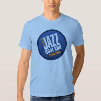 Jazz cerca de usted la camiseta de manga corta de playera