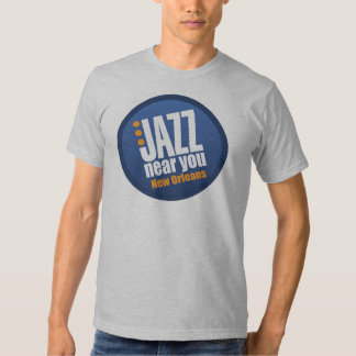 Jazz cerca de usted ropa de New Orleans Remera