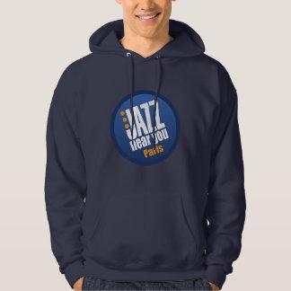Jazz cerca de usted ropa de París Jersey Con Capucha