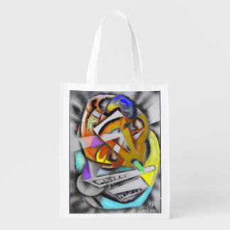 Jazz - Cheerful Abstract Design Market Tote