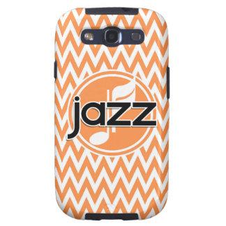 Jazz; Chevron anaranjado y blanco Galaxy S3 Cobertura