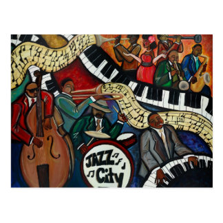 Jazz City Postcard