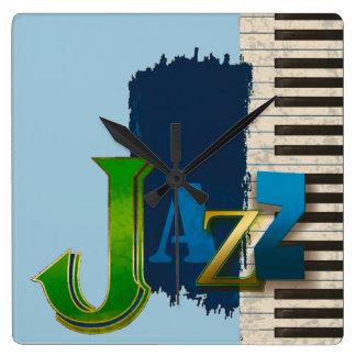 Jazz Square Wall Clock