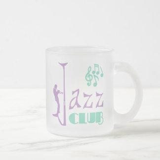 Jazz Club Frosted Glass Coffee Mug
