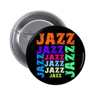 Jazz colorido y fresco pin redondo de 2 pulgadas