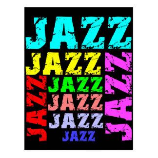 Jazz colorido y fresco postales