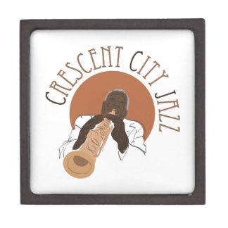 Jazz creciente de la ciudad cajas de recuerdo de calidad
