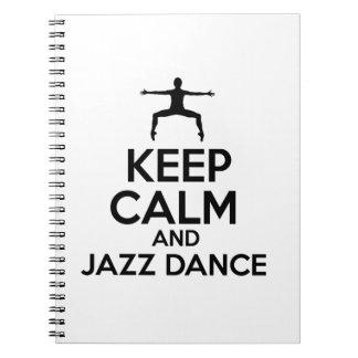 jazz dance design spiral notebook