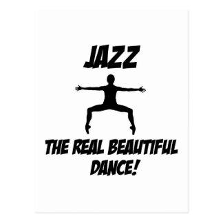 jazz dance design postcard