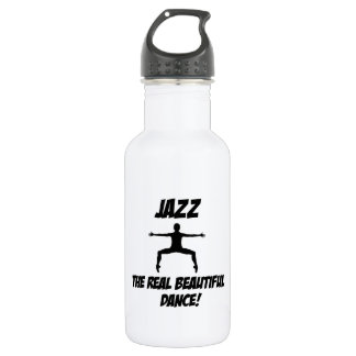 jazz dance design stainless steel water bottle