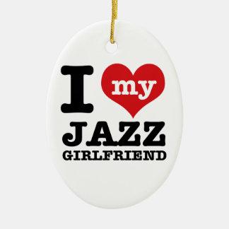 Jazz dance Girlfriend designs Ceramic Ornament