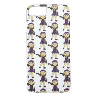 Jazz Dance Recital Purple Costume Girl Dancer iPhone 8/7 Case