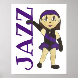 JAZZ Dance School Studio Art Dancer Teacher Gift Poster
