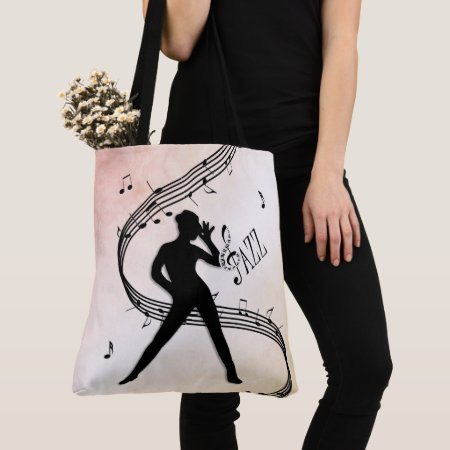 Jazz Dance Tote Bag
