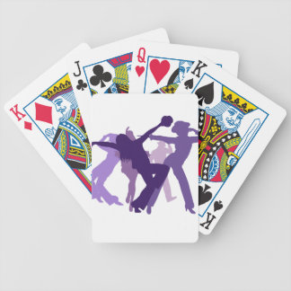 Jazz Dancers Illustration Bicycle Playing Cards