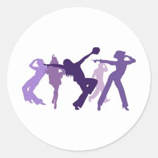 Jazz Dancers Illustration Classic Round Sticker
