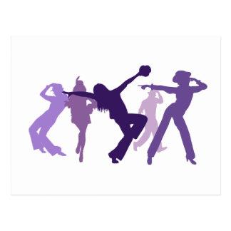 Jazz Dancers Illustration Postcard